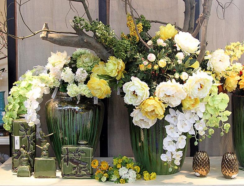 Искусственные цветы экибана своими руками фото