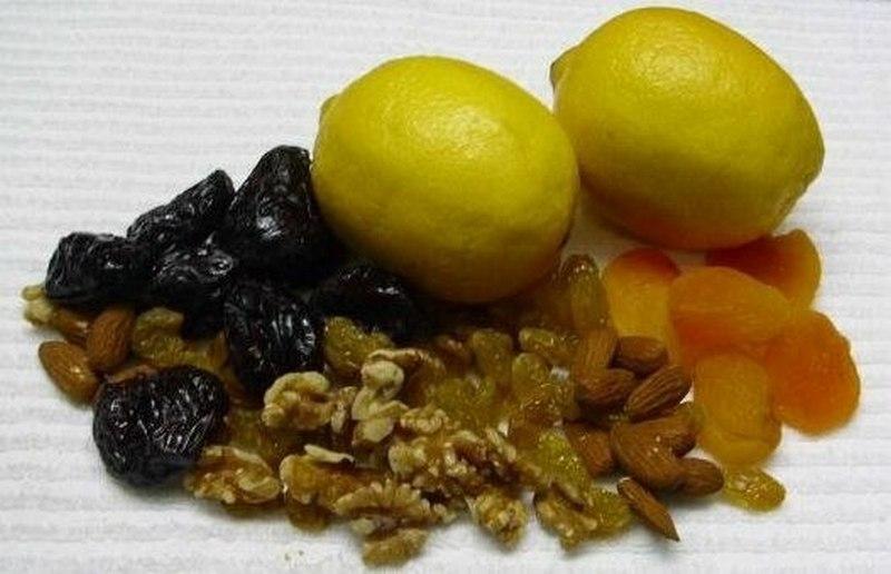 Грецкий орех мед лимон чернослив
